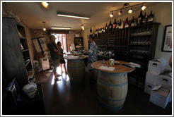 Hidden Creek Wine and Red Skye Winery tasting room.  Blacksmith Square.