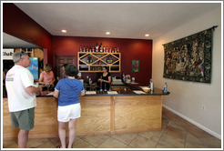 Tasting room.  Bodegas Aguirre Winery.