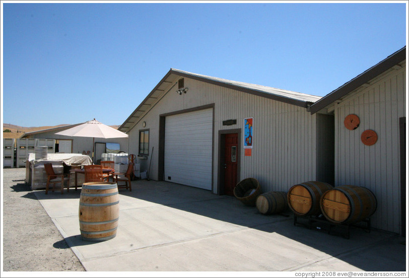 Tasting and barrel room.  El Sol Winery.