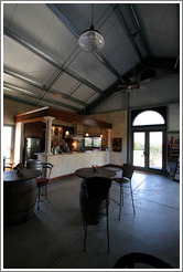 Tasting room.  Les Chênes Estate Vineyards.