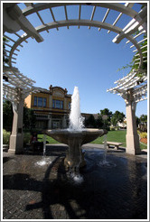 Fountain.  Downtown Livermore.