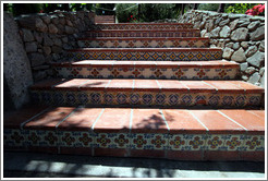 Tiled stairs.  Murrieta's Well.