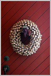 Cork wreath.  Retzlaff Estate Winery.