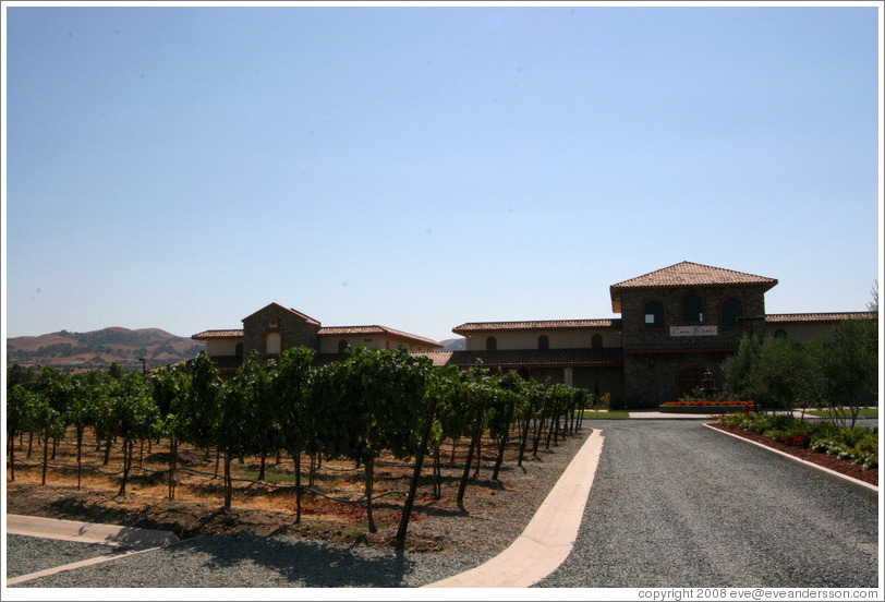 Casa Real and vineyard.  Ruby Hill Winery.