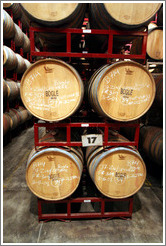 Bogle Vineyards barrels being stored by Wente Vineyards Estate Winery.