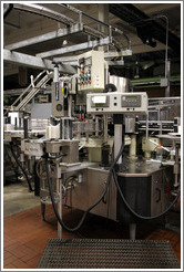 Labeler.  Bottling line.  Wente Vineyards Estate Winery.