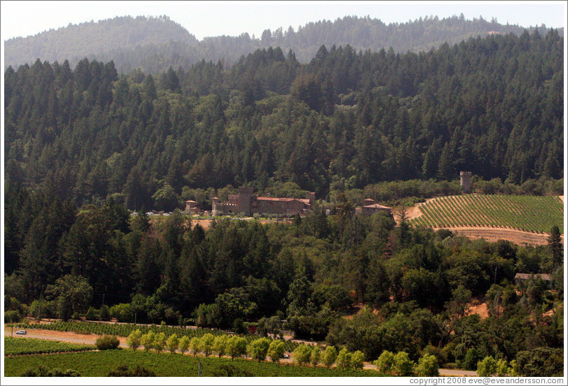Castella di Amorosa, viewed from Sterling Vineyards patio.