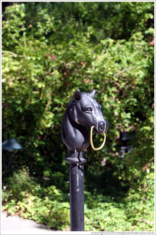 Horse hitching post.  Chateau Montelena.