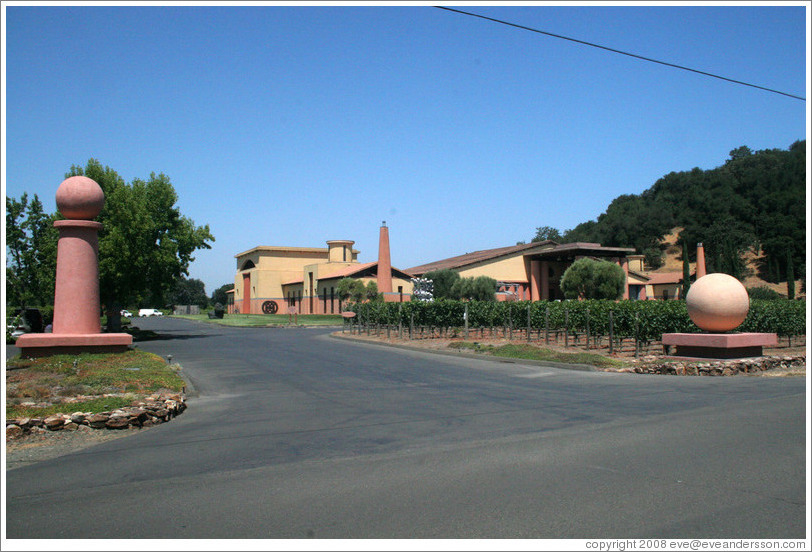 Entrance to Clos Pegase Winery.