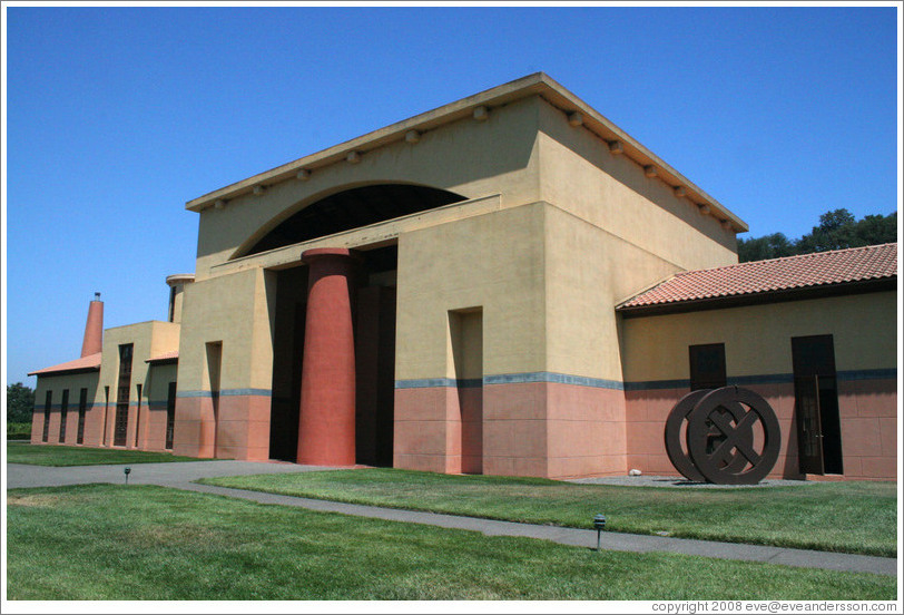 Exterior of Clos Pegase Winery.