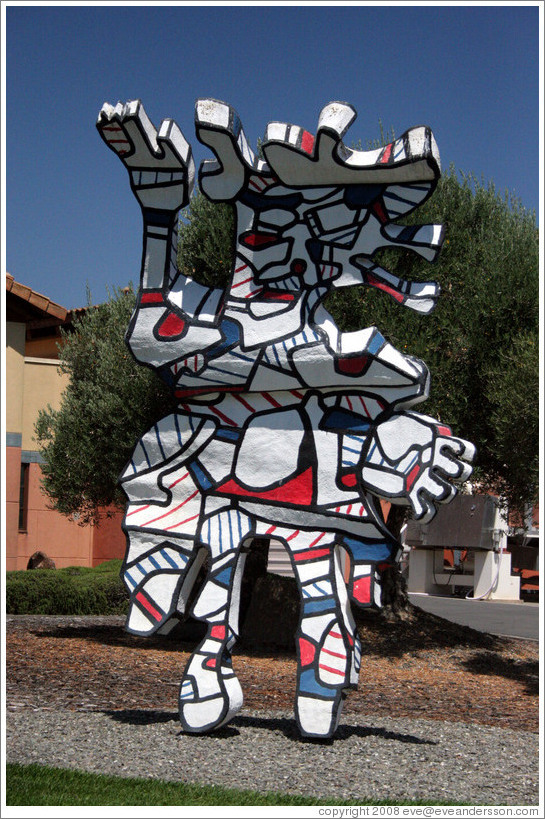 Artwork in front of Clos Pegase Winery.