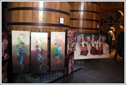 Paintings by Jim Stallings, Artist in Residence at Clos Pegase Winery.