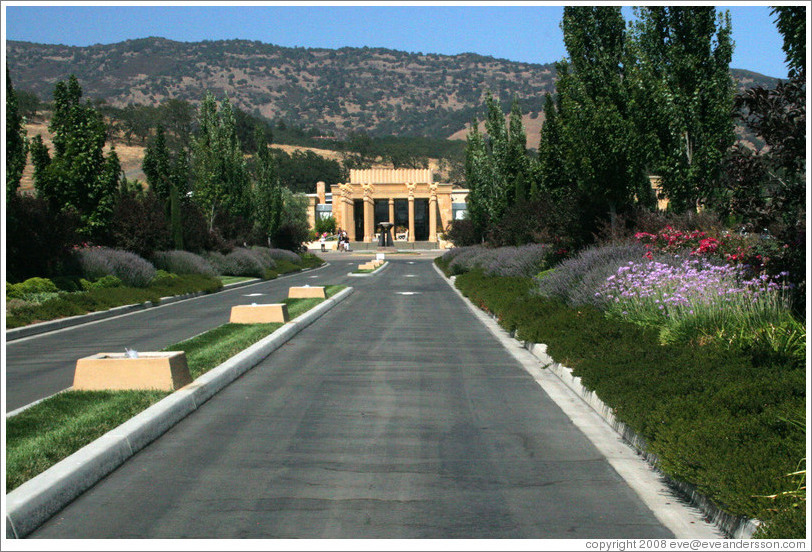 Entrance to Darioush Winery.