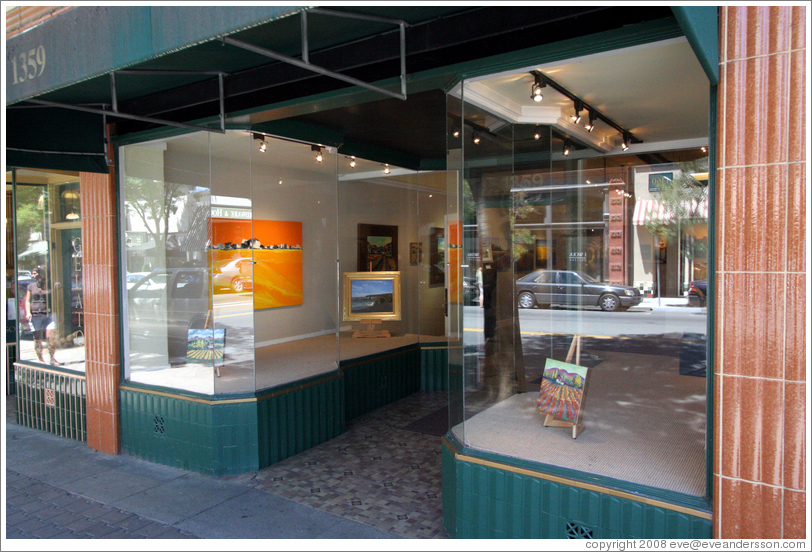 Art gallery.  Downtown St. Helena.