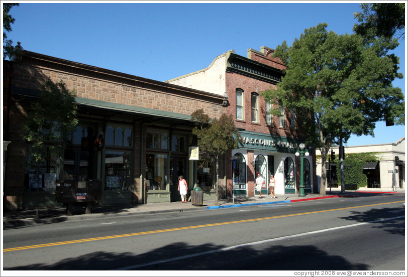 Vasconis Pharmacy.  Main St.  Downtown St. Helena.