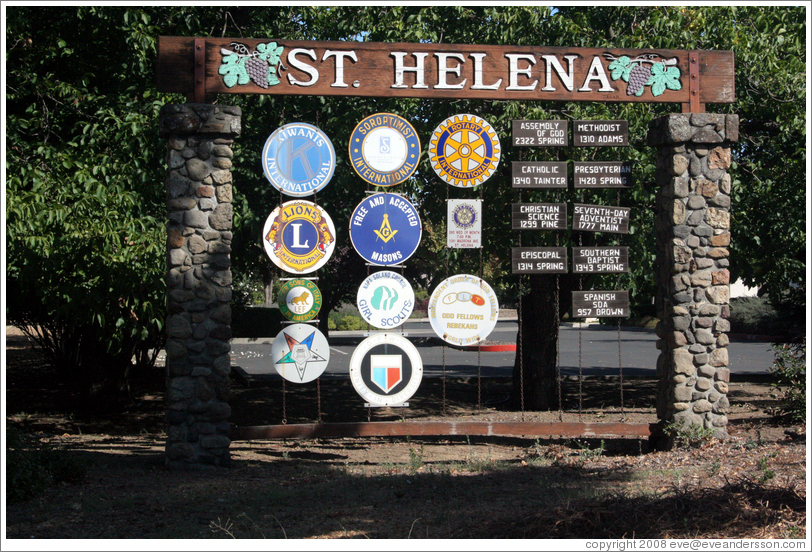 St. Helena sign.