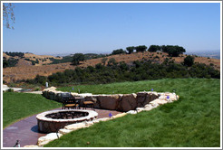 Fire pit.  Picnic area.  Calcareous Vineyard.