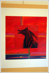 Horse painting.  Carmody McKnight Estate.