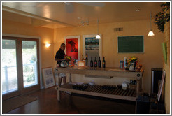 Tasting room.  Carmody McKnight Estate.