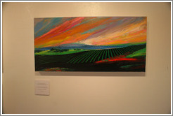 Mountain Vineyards.  Terroir painting by Gary Carmody Conway.  Carmody McKnight Estate.