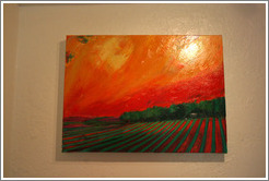 Terroir painting by Gary Carmody Conway.  Carmody McKnight Estate.