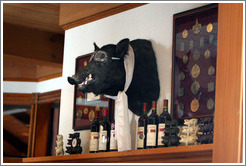 Boar's head.  Eberle Winery.