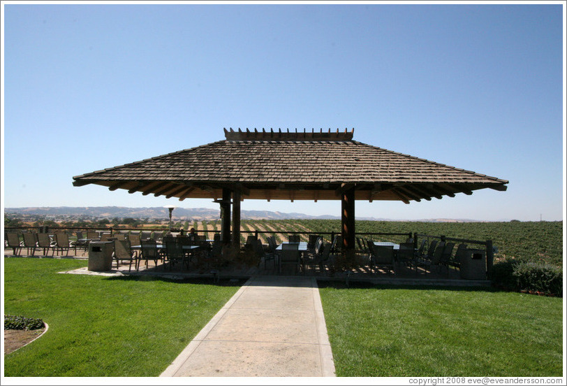 Picnic area.  Eberle Winery.