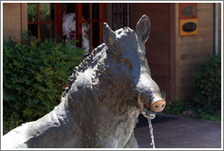 Porcellino (wild boar) statue.  93rd replica of the original bronze Porcellino cast by Tacca in 1620.  Eberle Winery.