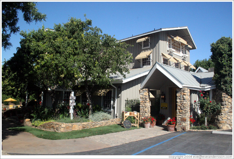 Tasting room.  Justin Vineyards and Winery.