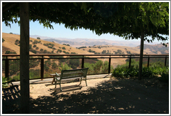 Bench and view.  Calera Wine Company.