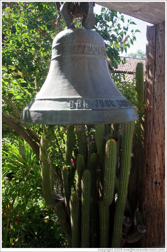 Beau Bell In Garden. San Juan Bautista Mission.
