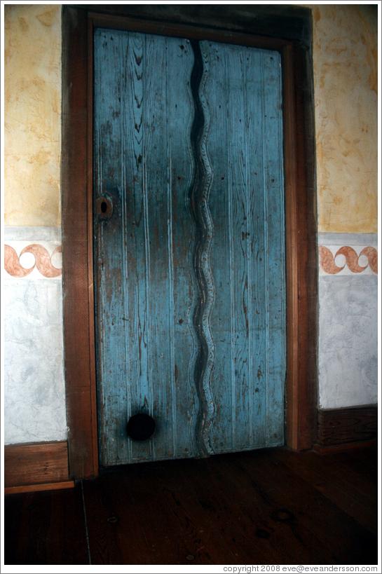 Door containing cat door. Guadalupe Chapel. San Juan Bautista Mission. & Door containing cat door. Guadalupe Chapel. San Juan Bautista ...