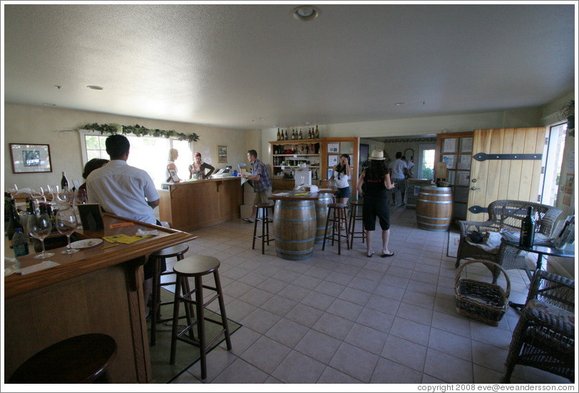 Tasting room.  Cottonwood Canyon Vineyard and Winery.