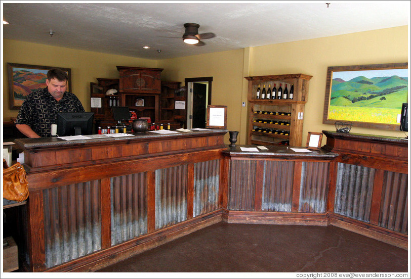 Tasting room.  Koehler Winery.