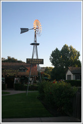 Atterdag Square windmill.  Downtown Solvang.