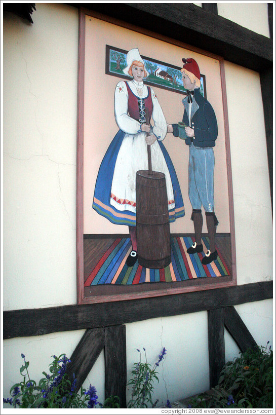 Picture of butter churner.  Downtown Solvang.