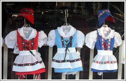 Danish childrens' outfits.  Downtown Solvang.