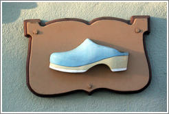 Clog sign.  Downtown Solvang.