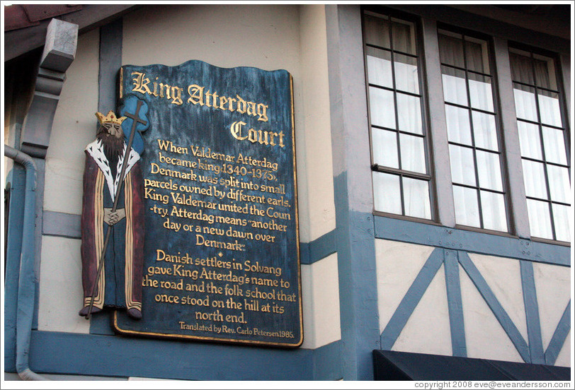 King Atterdag Court.  Downtown Solvang.