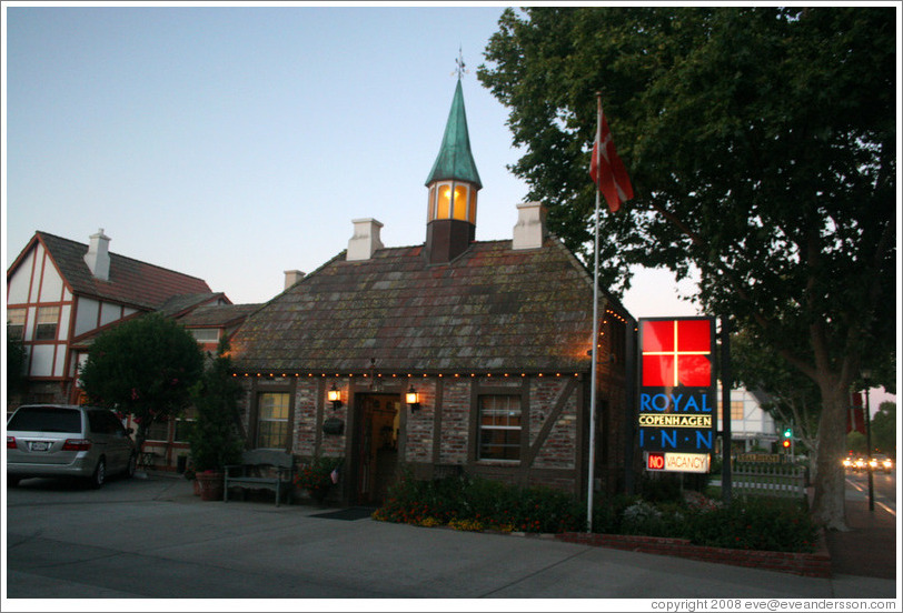 Royal Copenhagen Inn.  Downtown Solvang.