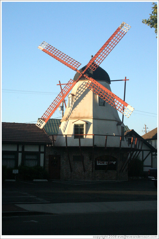 Windmill for lease.  Downtown Solvang.