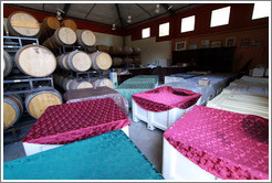Fermenting grapes under blankets, Poetic Cellars‎.