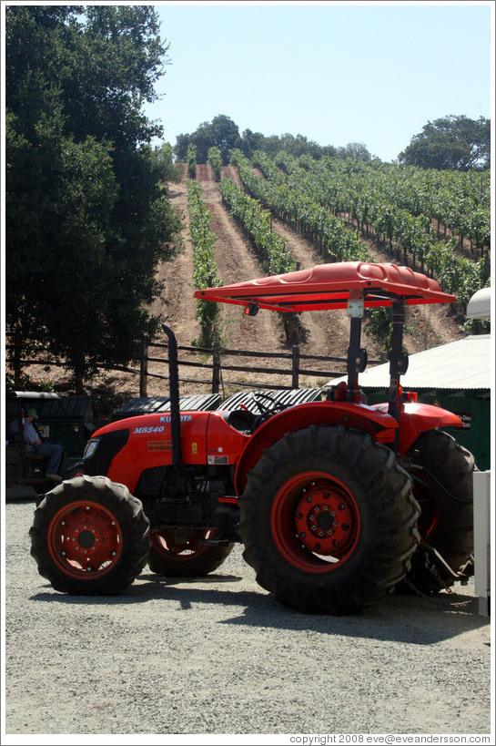 Tractor.  Benziger Family Winery.