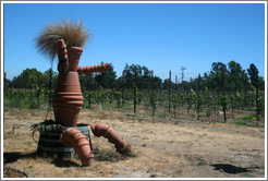 Flowerpot art.  DeLoach Vineyards.