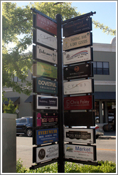 Shop signs.  Downtown Healdsburg.