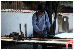 Sword used by 19th century Mexican army troops.  Sonoma Barracks.