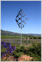 Garden scuplture.  St. Francis Winery and Vineyards.
