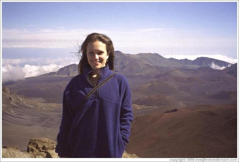 Beth on top of Haleakala.