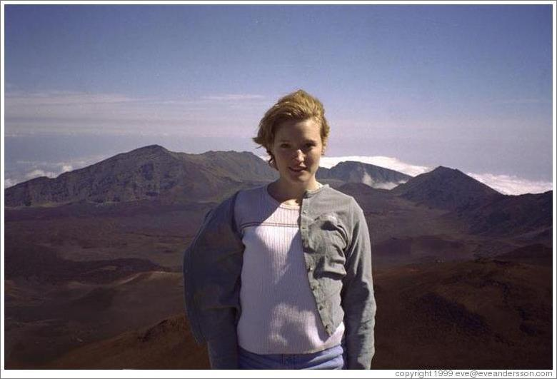 Eve on top of Haleakala.