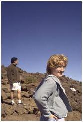 Eve and Jin on Haleakala.